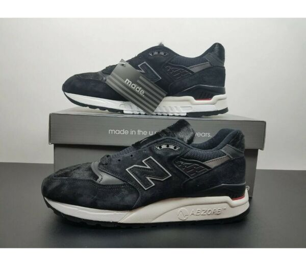 NEW BALANCE  998 Black Pony Hair M998TCB Made In USA, Size 8 New In Box NIB