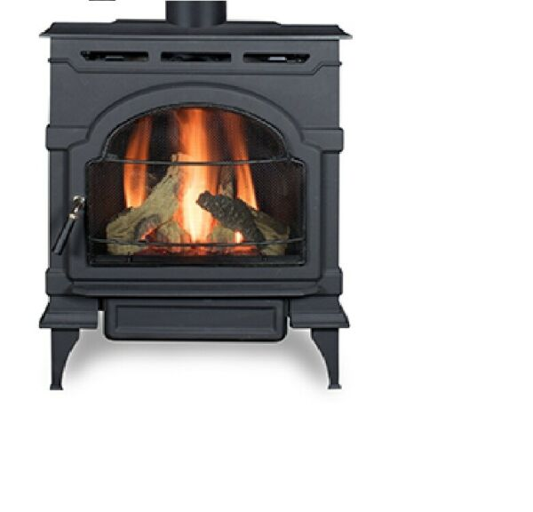ECO Choice by Heatilator Oxford Direct Vent Gas Stove 28.000BTU Classic Black