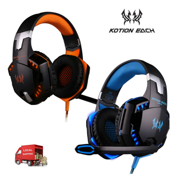 3.5mm Gaming Headset with LED Light Headphone Stereo Surround Earphone for PC