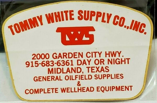 Tommy white supplies Tools wellhead Mining Hard Hat Decal Sticker $9.99