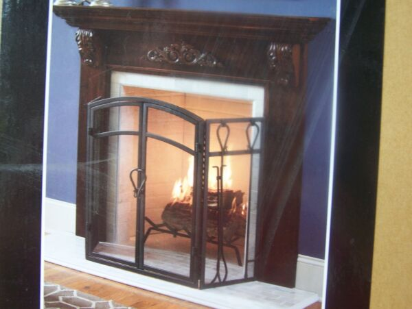 FIREPLACE MANTEL SURROUND -CHERRY FINISH...FREE SHIPPING