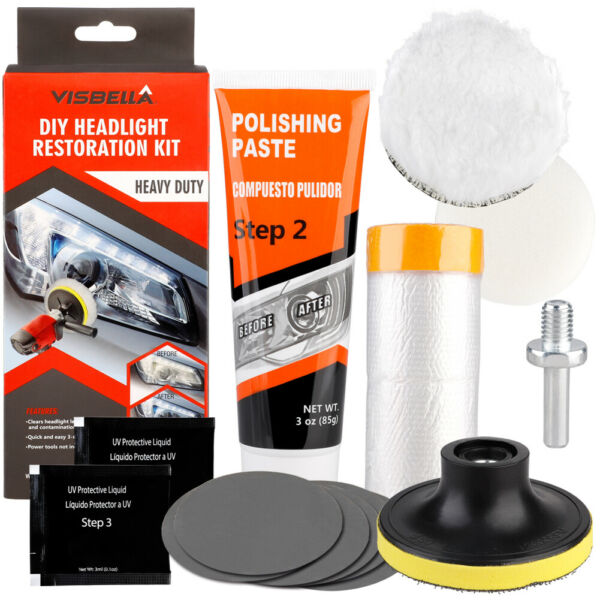 Car Headlight Restoration Kit Headlamp Polishing Light Polish Car Repair Tool