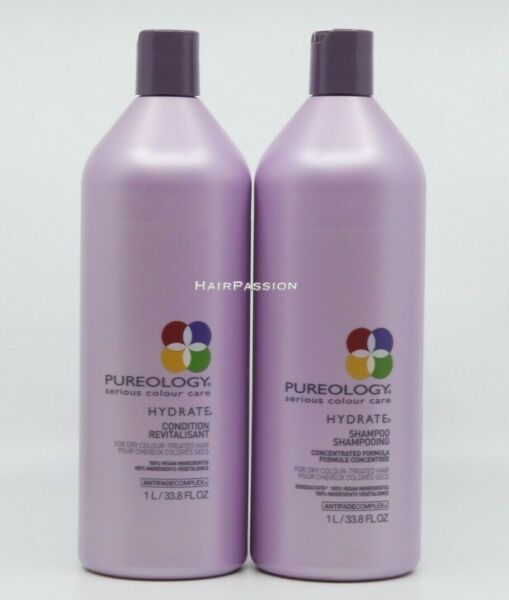 Pureology Hydrate Shampoo and Conditioner Liter Duo(33.8oz each)