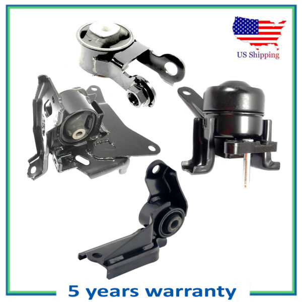 Set of 4PCS Engine Motor amp; Auto Trans Mount For 06 12 15 17 Toyota Yaris 1.5L L4 $109.05
