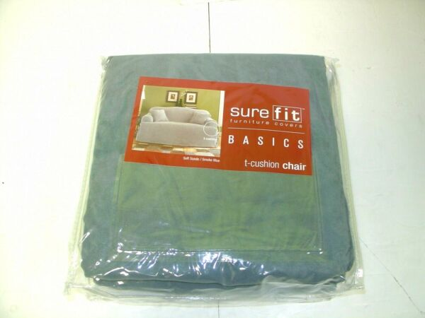Sure Fit Furniture covers Basics T Cushion Blue Fits Chairs 32quot; to 43quot; $32.00