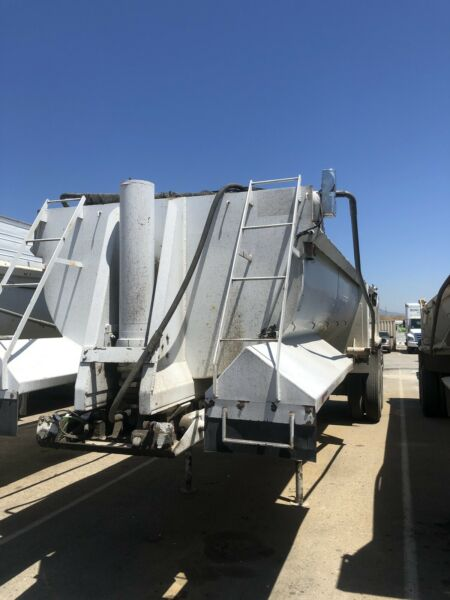 2000 Western Low Side End Dump Trailer 32' With Air Gate Electric Tarp