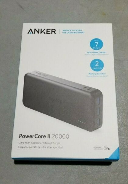 Portable Charger Anker Powercore Elite 20000 20000mAh Power Bank with 3-Port 6A