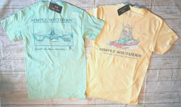 2 NWT Simply Southern Unisex Sz. Small Short Sleeve T-Shirts