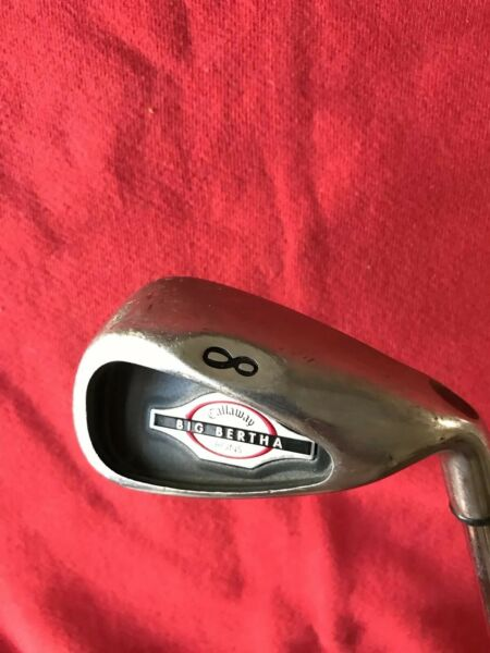 Used Callaway 2002 Big Bertha  Single Iron # 8 Iron  Uniflex Steel Shaft