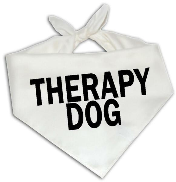 Therapy Dog Dog Bandana One Size Fits Most Emotional Service Animal Puppy $9.99