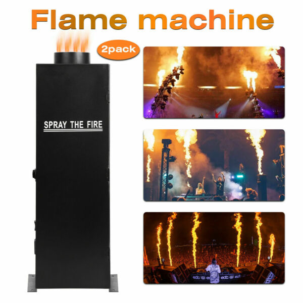2pc 200W DMX Flame Thrower Effect Fire Spray Stage Machine Party Projector US