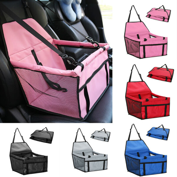 Portable Dog Car Seat Pet Booster Travel Safety Protector For Small Medium Dogs $16.96