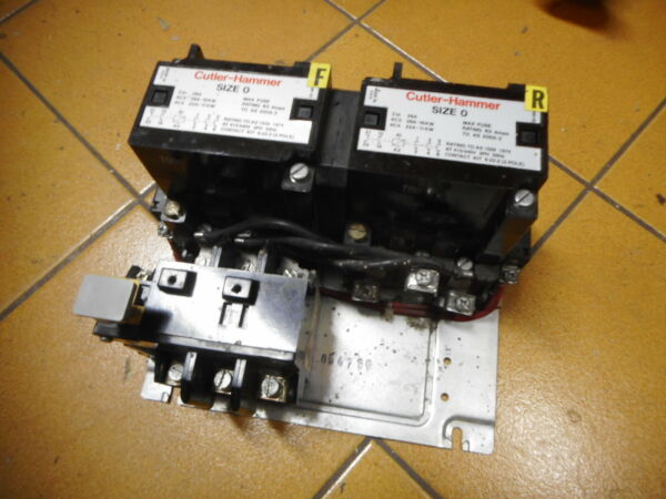 CUTLER HAMMER REVERSING CONTACTOR 15kW 240AC coils w Overload 7.5amps AU $175.00