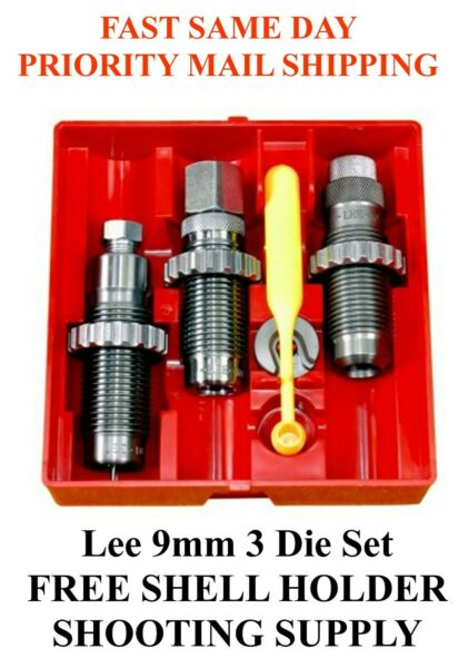 LEE Carbide 3 Die Set 9mm Luger 9mm Parabellum 9x19mm 90509 FAST SAME DAY SHIP