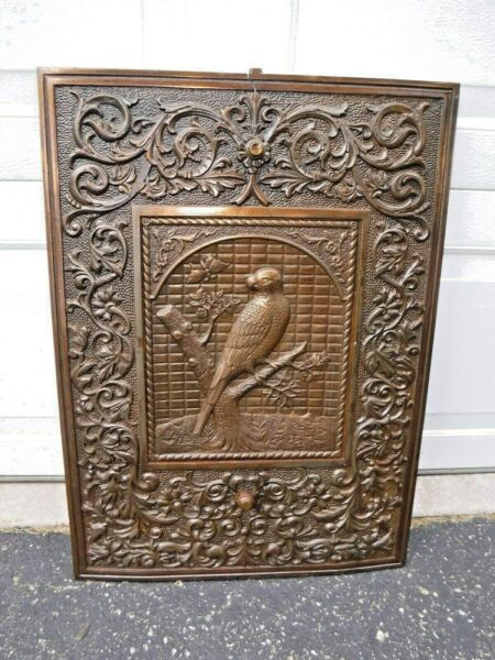 Antique Cast Iron Fireplace Surround Summer Cover Ornate