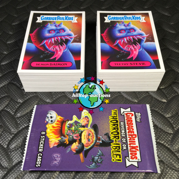 GARBAGE PAIL KIDS REVENGE OF OH THE HORROR-IBLE 2019 200-CARD SET+PROMO+WRAPPER