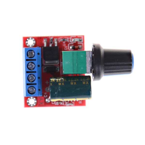 Mini DC Motor PWM Speed Controller 5A 4.5V-35V Speed Control Switch LED Dimm .G0
