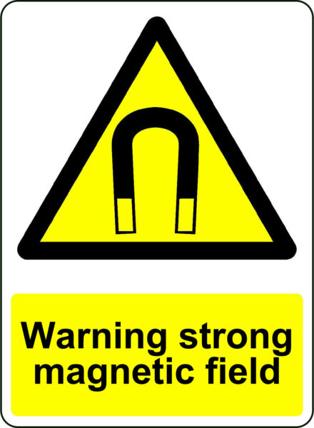 WARNING STRONG MAGNETIC FIELD OSHA DECAL SAFETY SIGN STICKER 3M USA MADE