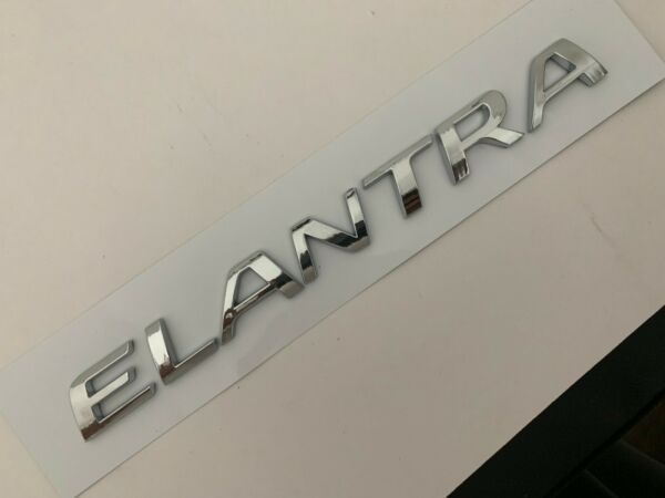 Elantra Fit Hyundai Rear Trunk Emblem Nameplate Letters Badge 11 12 13 14 15-17