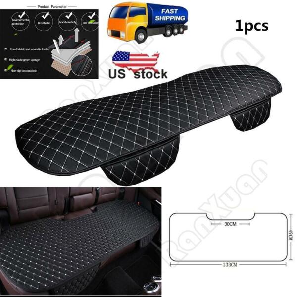 PU LeatherCar Interior Accessories Seat Cover Front Rear Seat Cushion Pocket NEW