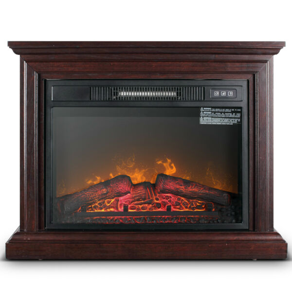 1400W Large Infrared Quartz Electric Fireplace Heater Realistic Flame w Remote