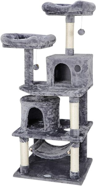57quot; Cat Tree Condo Pet Furniture Activity Tower Play House with Perches Hammock $64.99