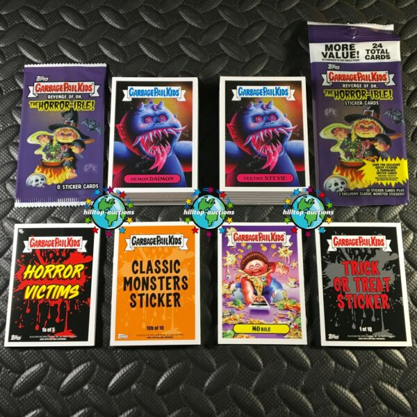 GARBAGE PAIL KIDS REVENGE OF OH THE HORROR-IBLE 241-CARD MASTER SET +2X WRAPPERS
