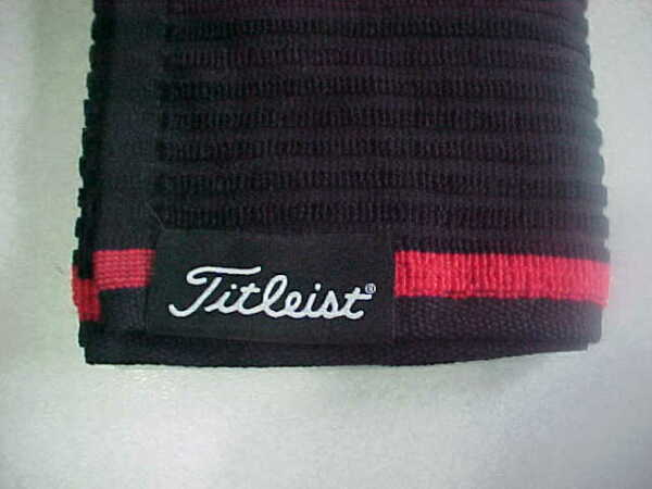 NEW TITLEIST PLAYERS GOLF TOWEL 16 X 32 BLACK TERRY LOOP TA9PLTWL-0 2019