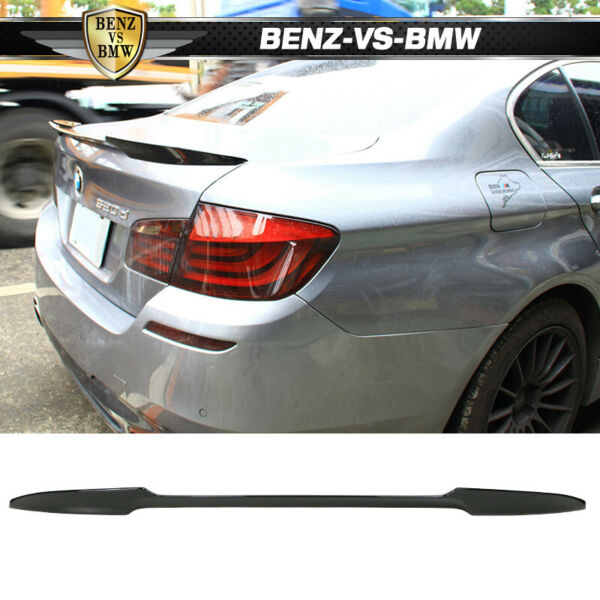 USA STOCK Fits 11-16 BMW F10 Sedan M4 Style Trunk Spoiler Painted #668 Jet Black