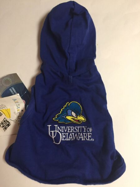 All Star Dogs University Of Delaware Dog Hoodie BLUE XX SMALL NEW $4.99