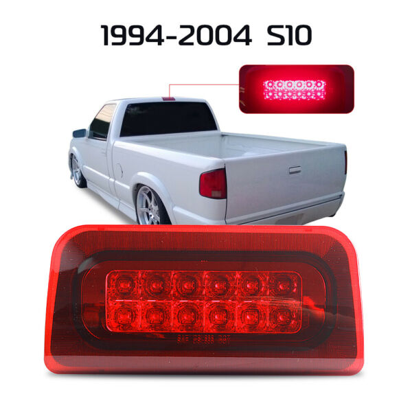 For 94-03 Chevy S10GMC Sonoma 2-Rows Tail LED 3RD Third Brake LightLamp Red US