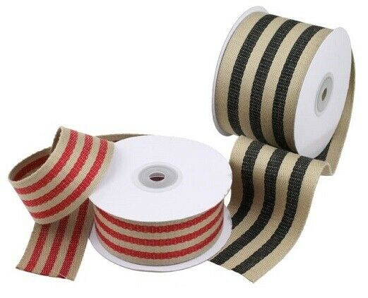 1.5quot; Faux Burlap Ribbon 10 Yard Roll Choose Your Color