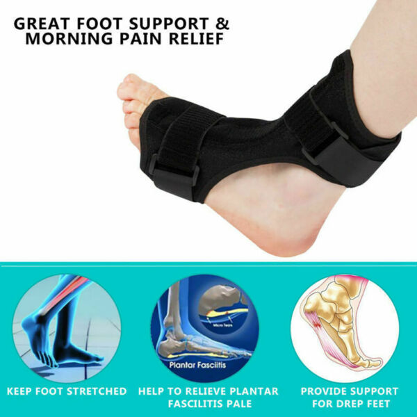 Day Night Adjustable Orthosis Plantar Fasciitis Splint Support Foot Brace Strap