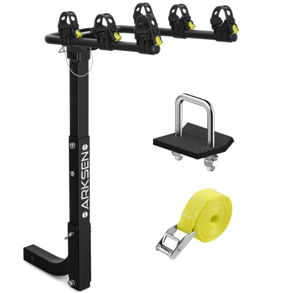 3 Bike Carrier Rack Hitch Mount Premium Swing Down Bicycle Rack W 2quot;Receiver $89.96