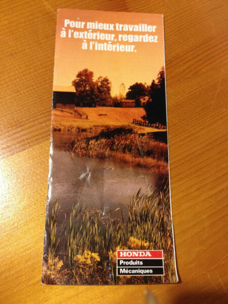 1996 Honda powersports outdoor products dealer sale brochure FRENCH Canada