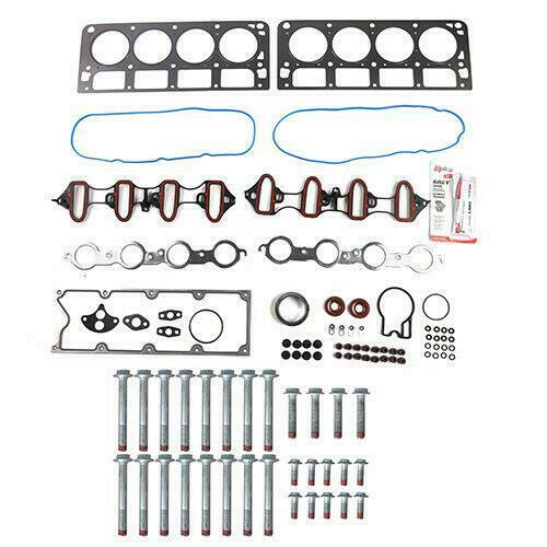 Head Gasket Set Head Bolts Kit Fits 99-01 GMC Silverado 4.8L-5.3L V8 OHV 16v