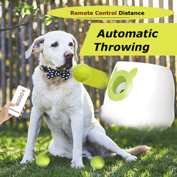 Automatic Ball Launcher - Dog Interactive,Tennis Ball Throwing W Remote Control