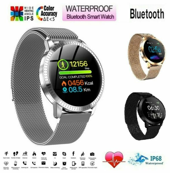 Waterproof Smart Watch Heart Rate Bracelet Women Gift For iPhone Android Samsung $34.99
