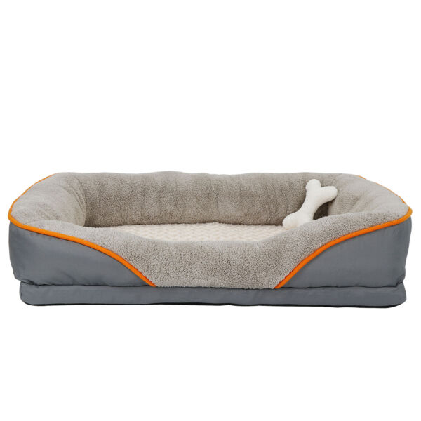 Orthopedic Dog Bed Sofa Memory Foam Lounge w Removable Cover amp; Toy HIGH QUALITY $42.99