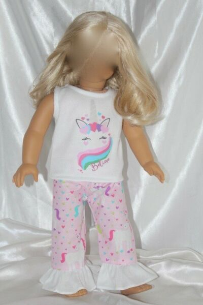 Dress Outfit fits 18 inch American Girl Doll Clothes Unicorn Hearts Lot B $10.95