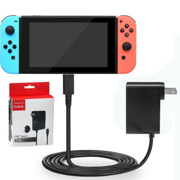 For Nintendo Switch  Lite Charger Chargering Cord AC Adapter Power Supply 2.4A