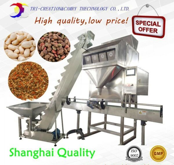 Auto 1.6 L granular fillingbeansseedsnuts weight filling machine4 hopper