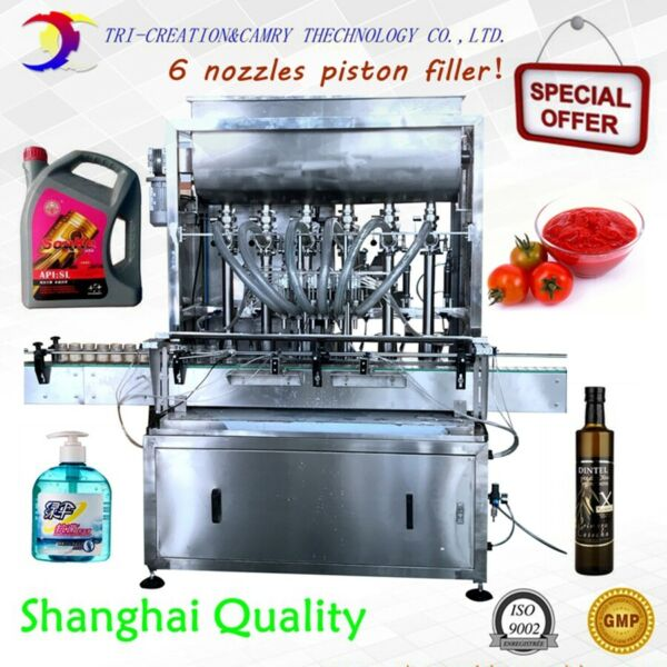Sauce filling machine for ketchup2L 6 nozzleoil filling machineliquid filling