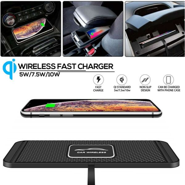 QI Wireless Car Phone Charger Fast Charging Pad Mat For iPhone Samsung Universal $18.85