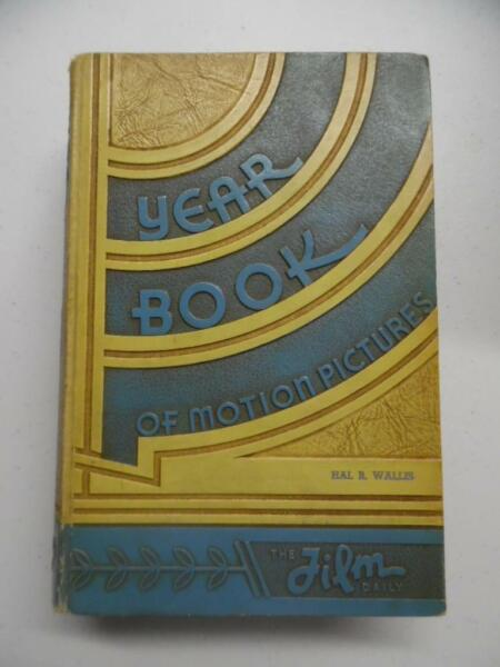 1935 Film Daily Year Book of Motion Pictures Producer Hal Wallis Personal Copy