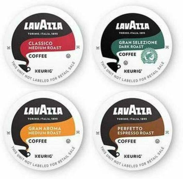 Lavazza Coffee K Cup Variety Pack for Keurig Single Serve Coffee Brewers 64 Pods