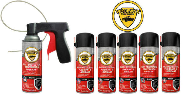 Woolwax® Spray Can Undercoating Kit. BLACK. 6 cans