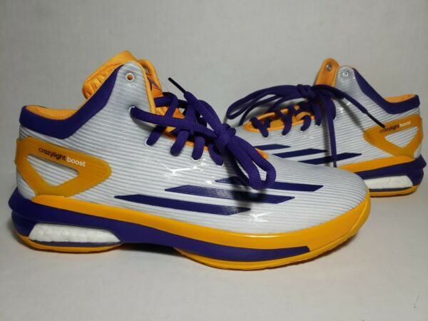 Adidas Crazylight Boost Parker PE Mens Size 12.5 D69901 Rare Limited Lakers