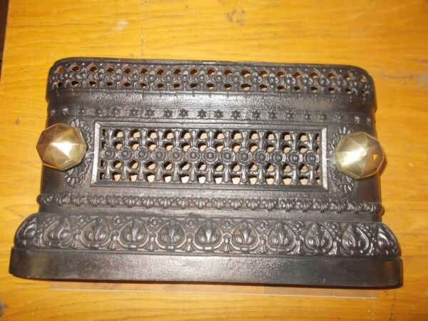 Victorian Cast Iron Tidy Betty Fireplace Fender Hearth Range Grate Fire