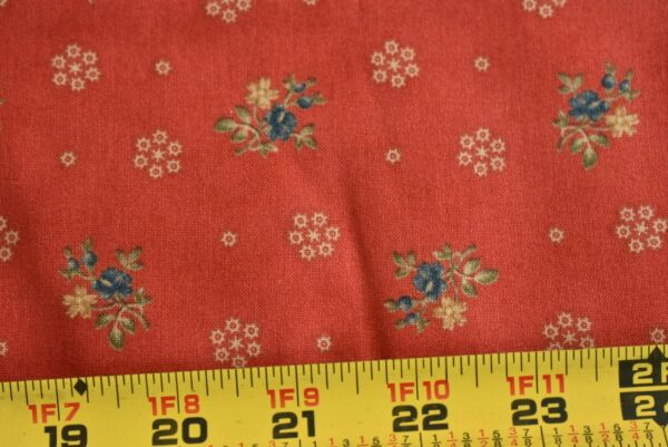 By 1 2 Yd Blue Rust Quilting Moda Collections for Cause Traditions 46018 M8490